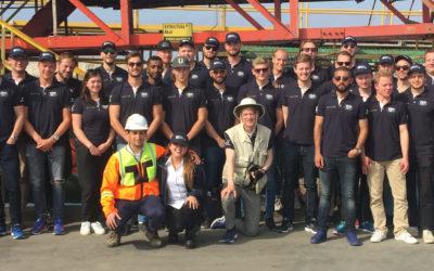 Delegación de estudiantes suecos visitó Puerto Mejillones