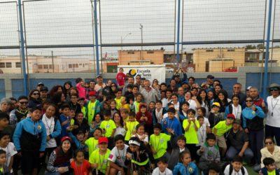 Escuela de Tenis Puerto Mejillones lideró campeonato interescuela regional