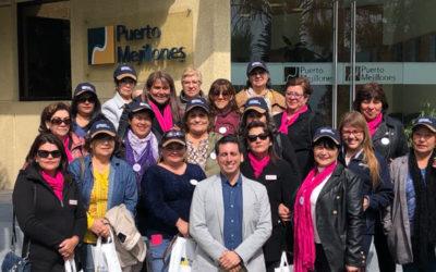 Puerto Mejillones recibió en sus instalaciones a las participantes del voluntariado Mujeres Unidas de Mejillones