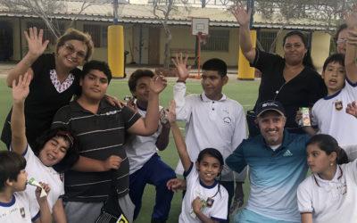 Puerto Mejillones lidera nueva clínica de tenis inclusiva en la comuna