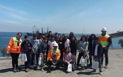 Puerto Mejillones recibió en sus instalaciones a escolares de la comuna