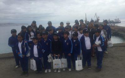 Alumnos de la escuela Julia Herrera conocieron Puerto Mejillones