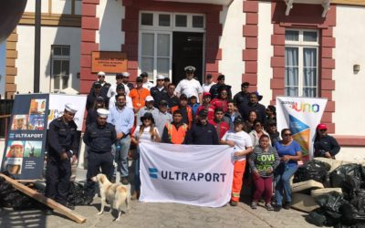 Puerto Mejillones participó en el Día Internacional de la Limpieza de Playas